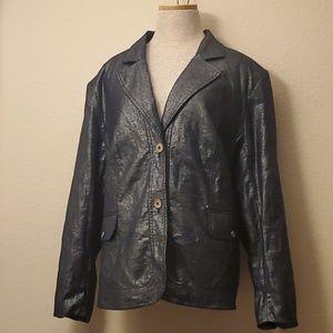 Dialogue silver black blazer jacket 2X